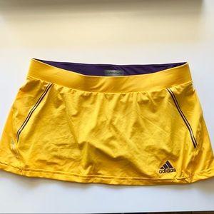 NWT Adidas Athletic Skort Barricade Yellow SZ Med